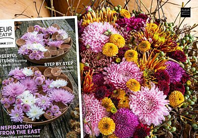 The new Fleur Créatif Magazine is out now! This autumn issue is full of floral inspiration for the new season. A must have for flower lovers and flower professionals.
